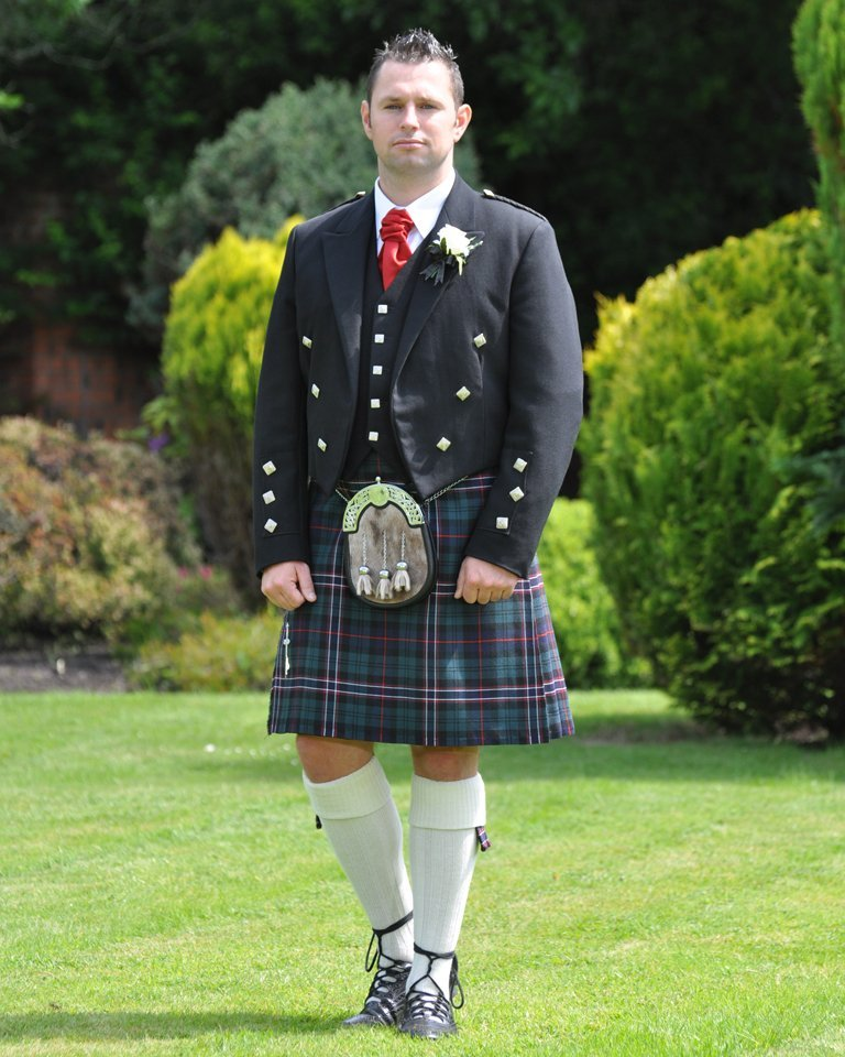 Scotlands National Tartan with Prince Charlie