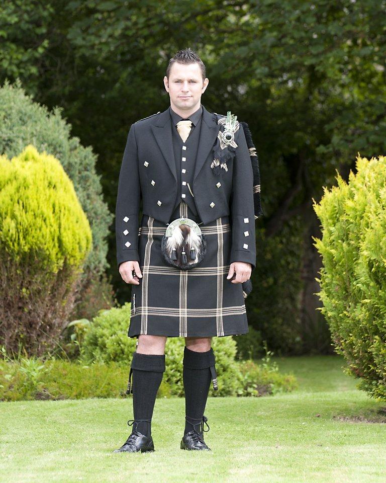 Celtic Black Tartan with Prince Charlie