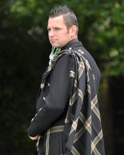 Celtic Black Tartan Plaid