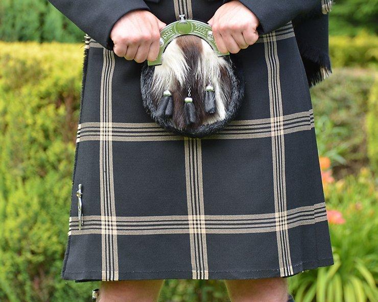 Celtic Black Tartan