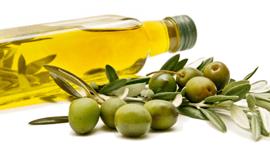 bottiglie con olive