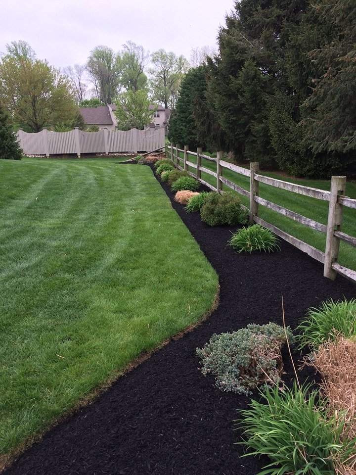 Mulching and Edging services by Cook Bros Estate Services, Lancaster PA.