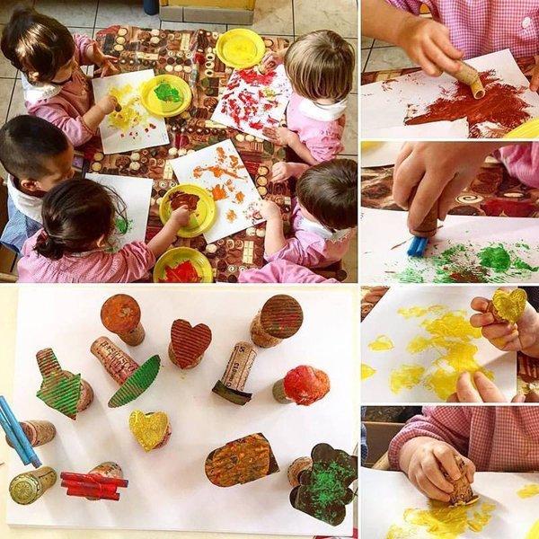 pittura e creazioni tra i bambini
