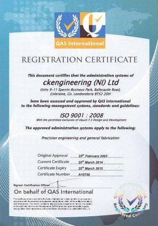 Registering certificate