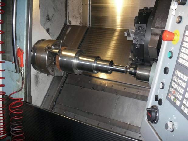 CNC turning work
