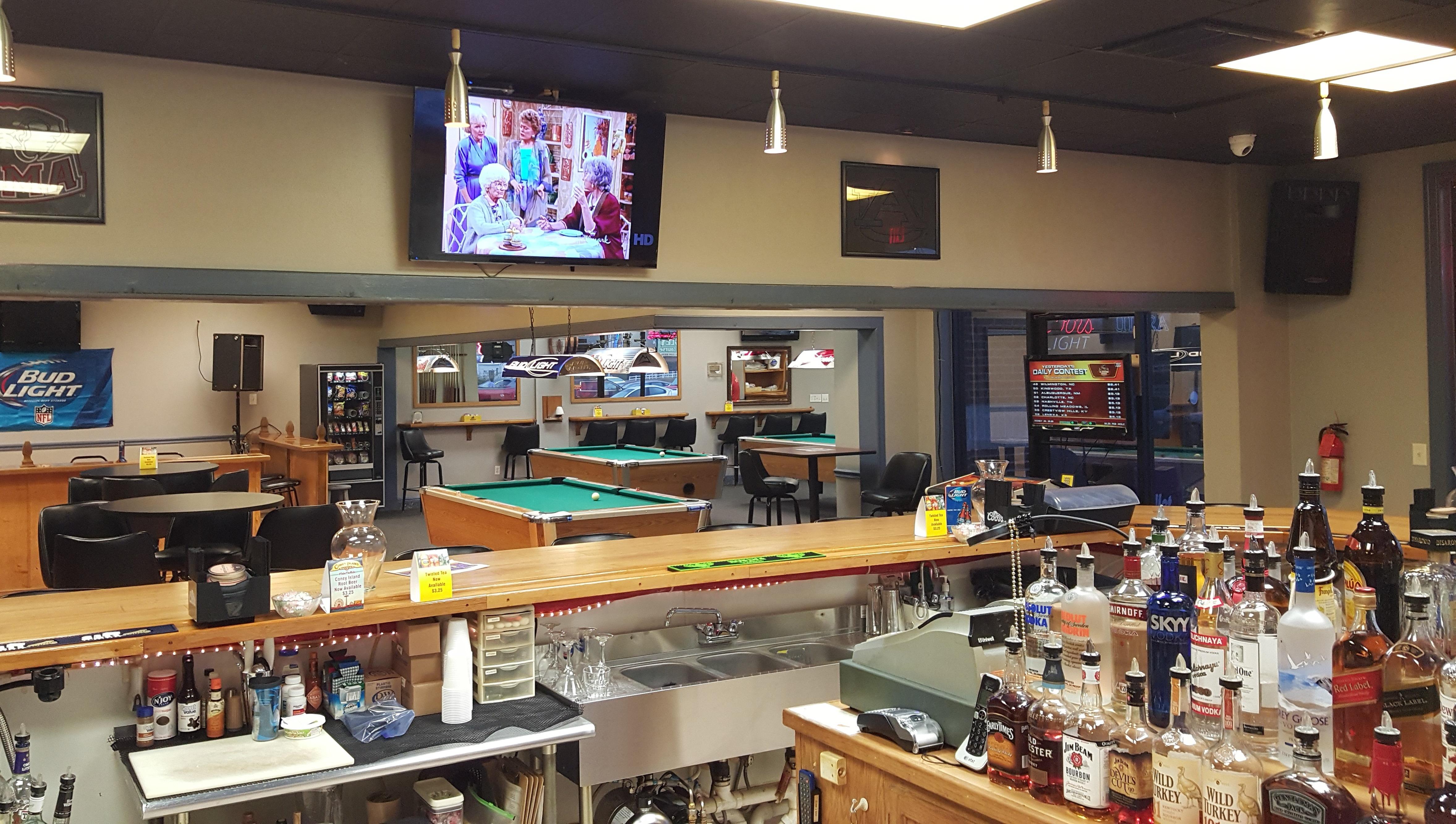 Friends enjoying at the sports bar in Foley, AL
