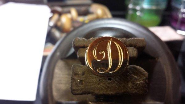 Anello argento incisioni personalizzate