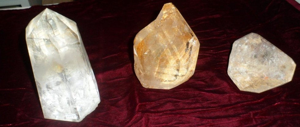 fermacarta in cristallo di rocca