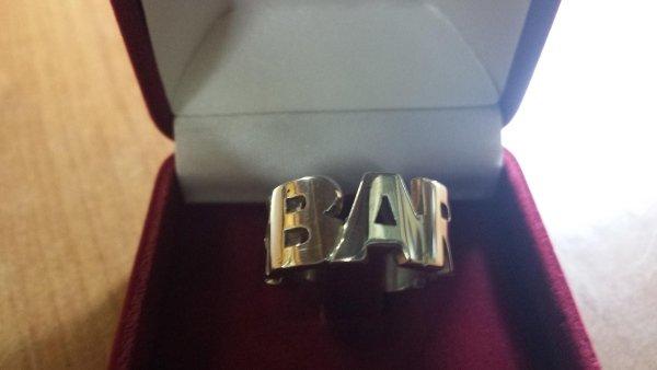 anello argento con nome