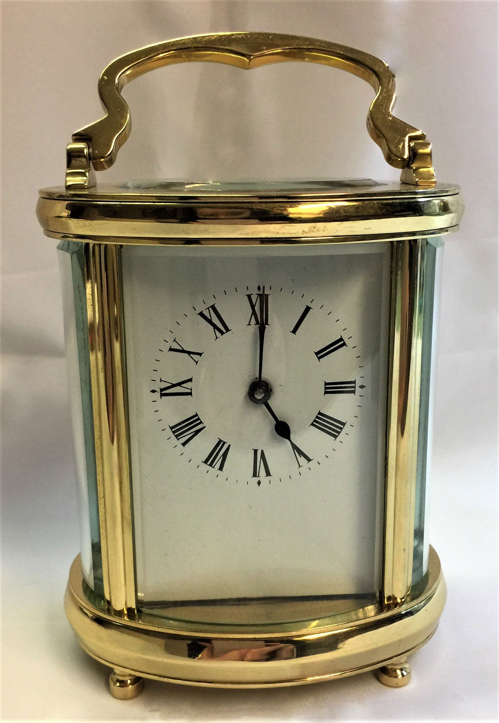 Oval French carriage timepiece