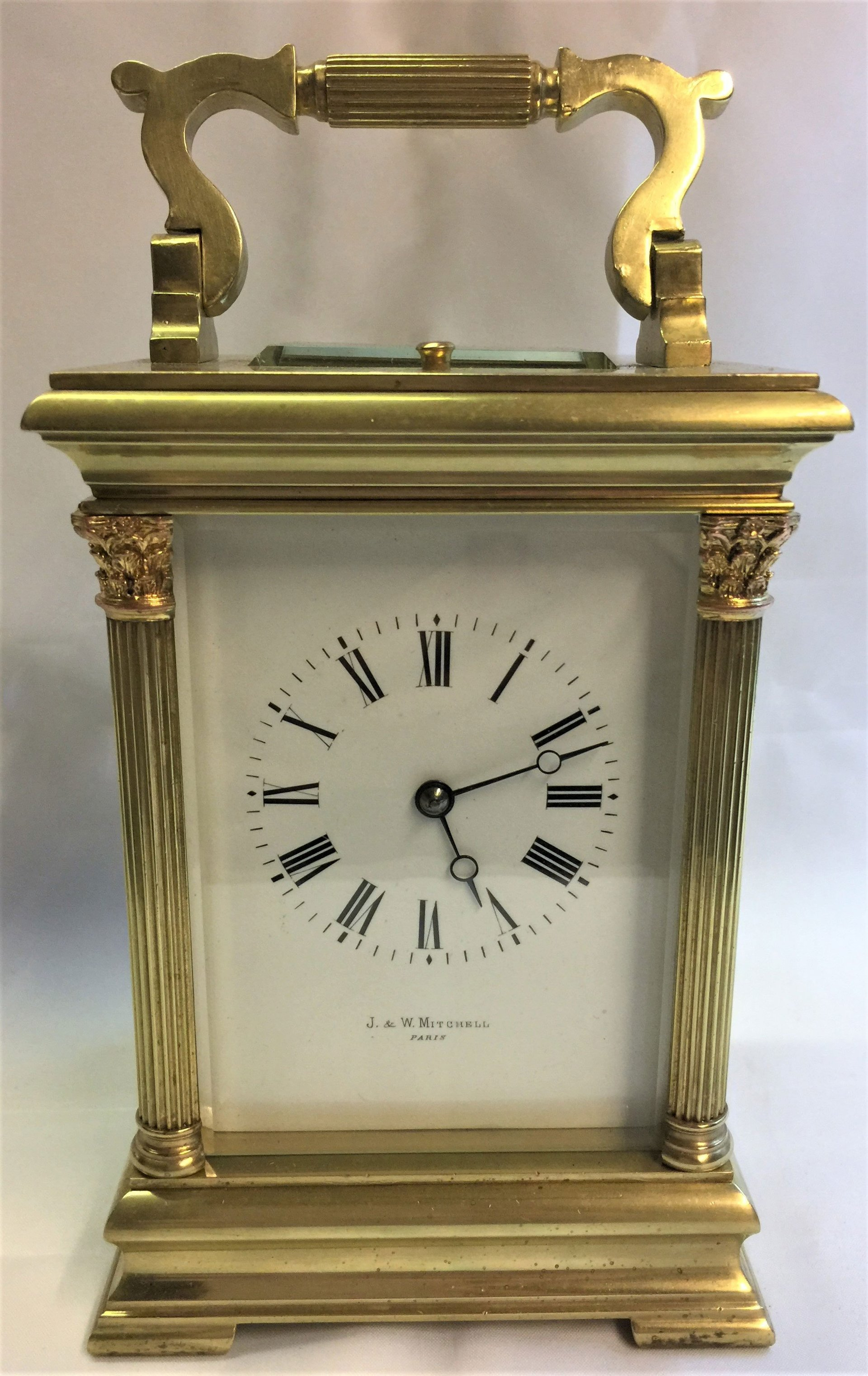 French repeating carriage clock