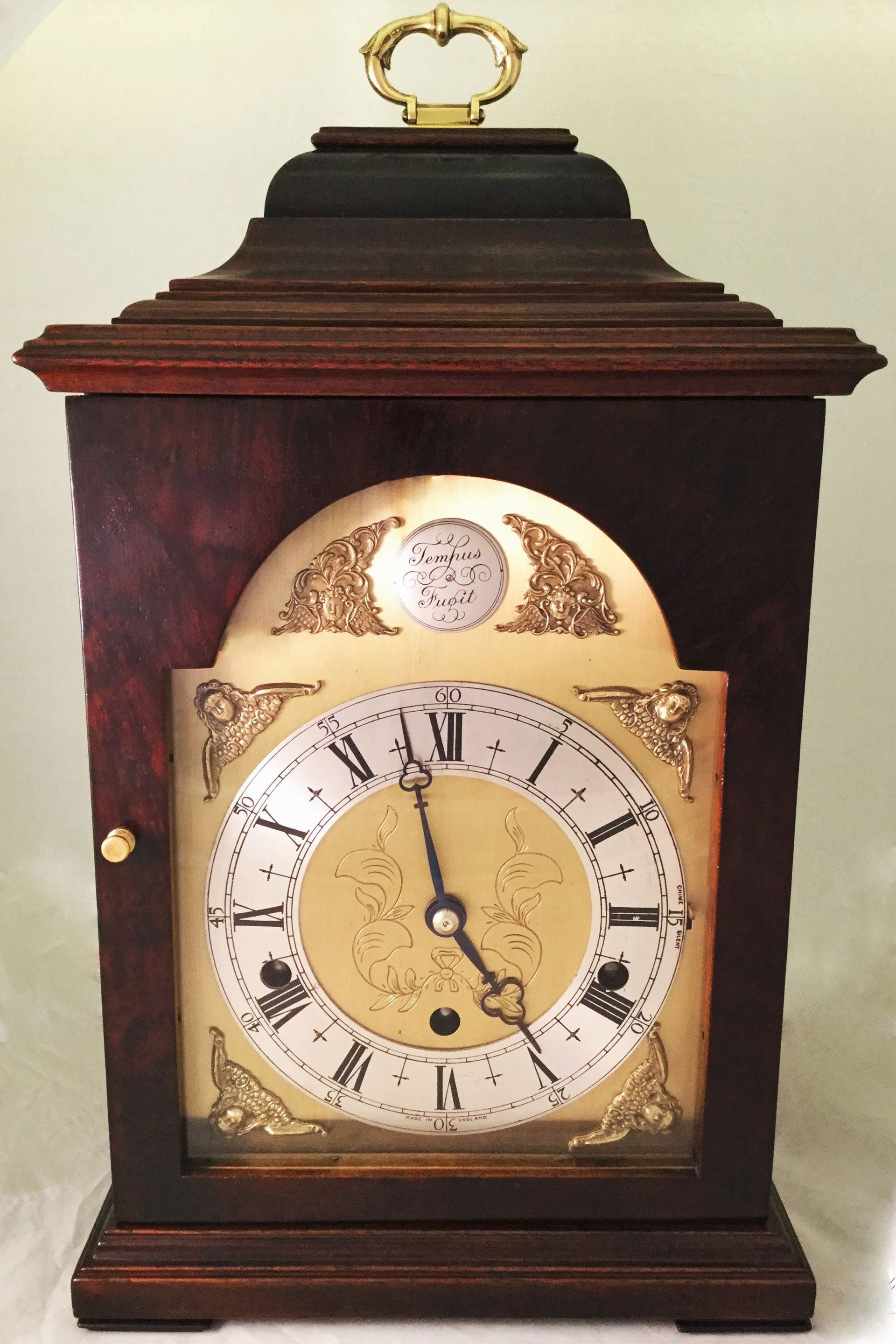 Elliott three train mantel clock