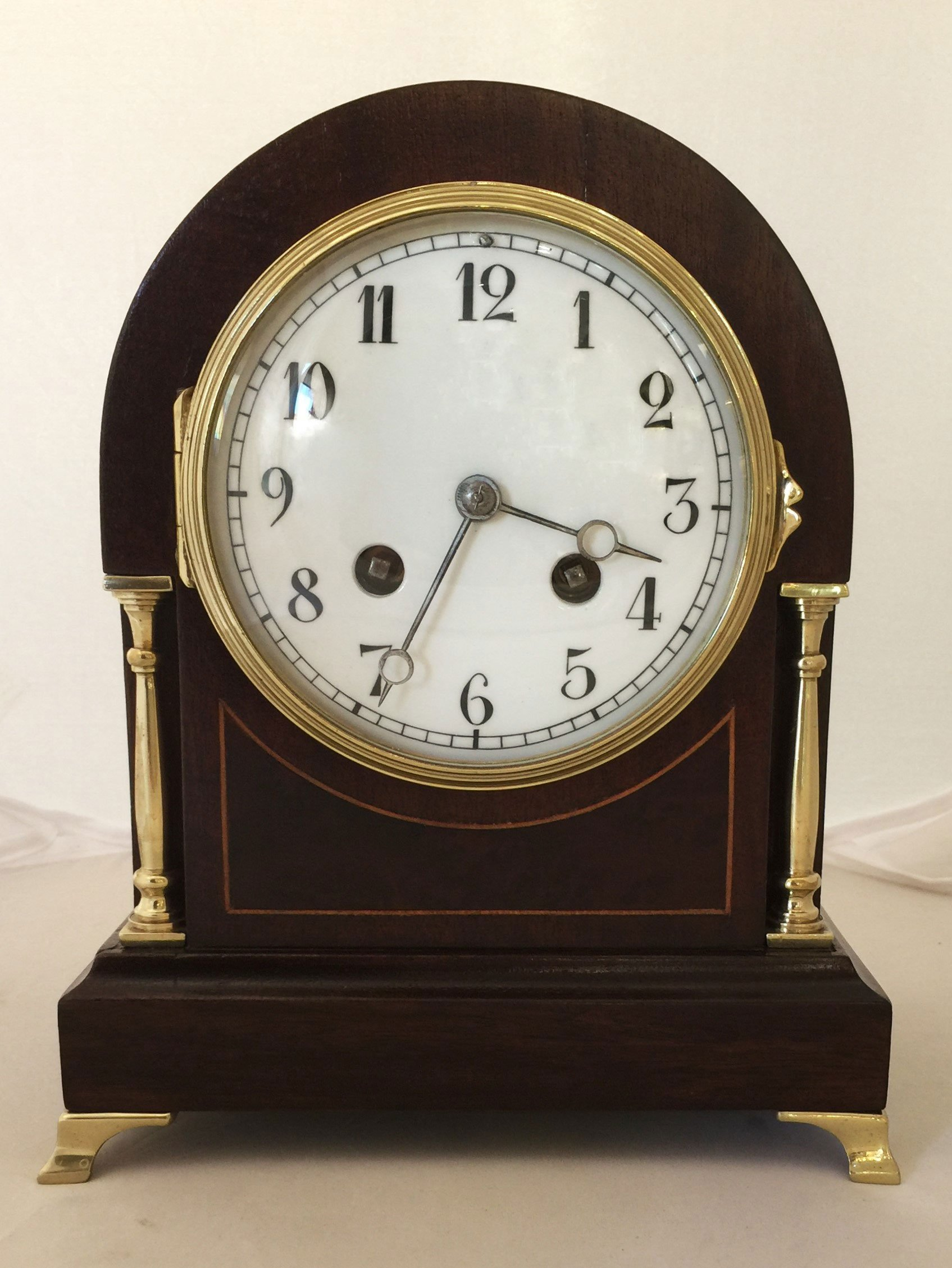 French mahogany mantel clock