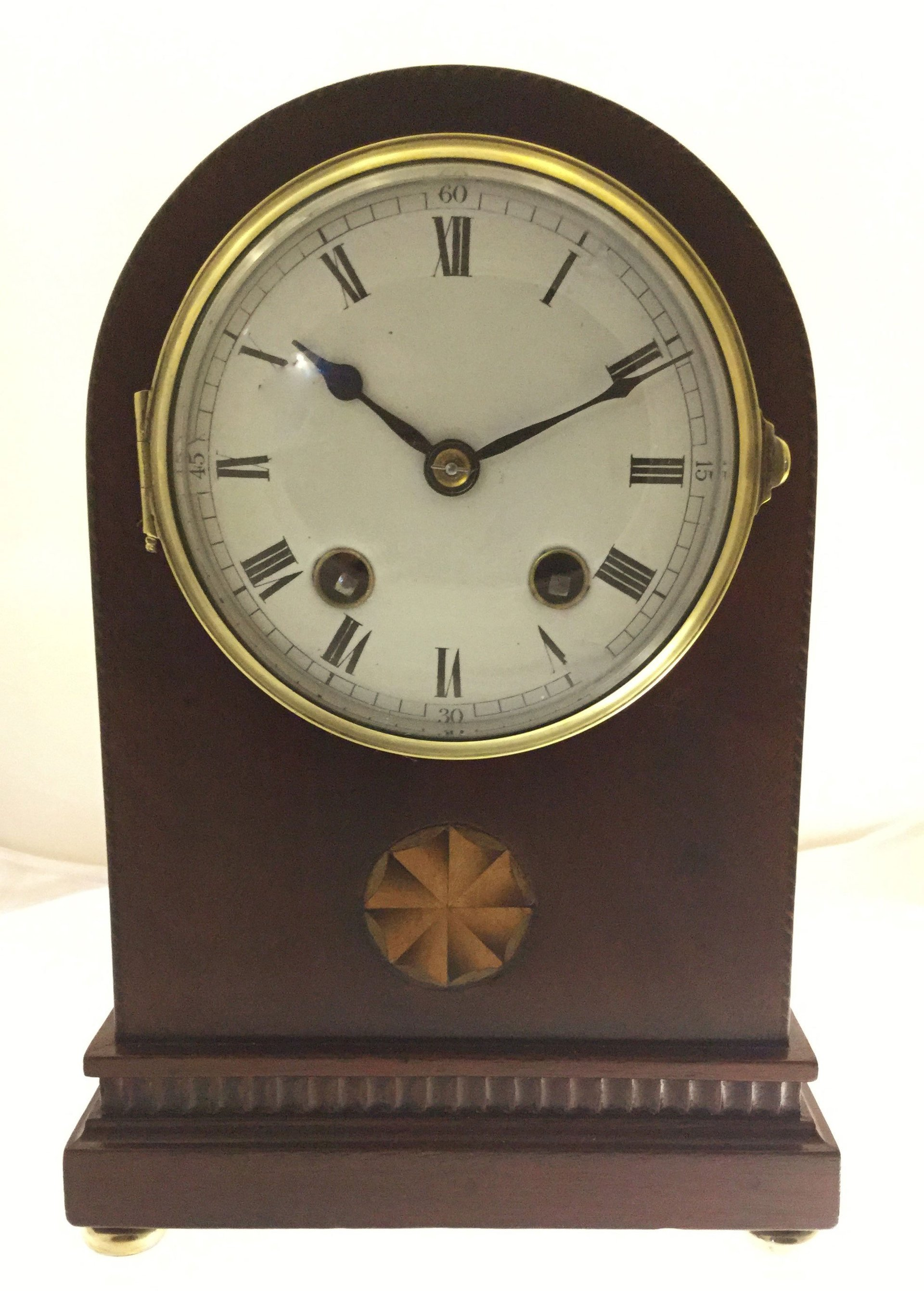French mahogany cased mantel clock