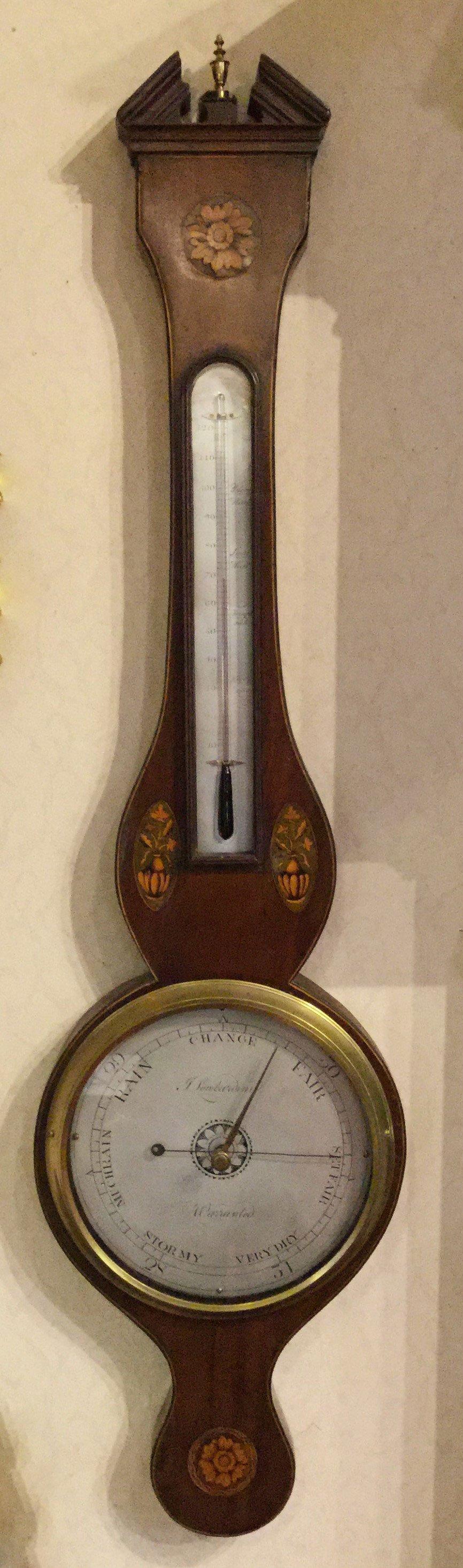 Shell inlayed barometer