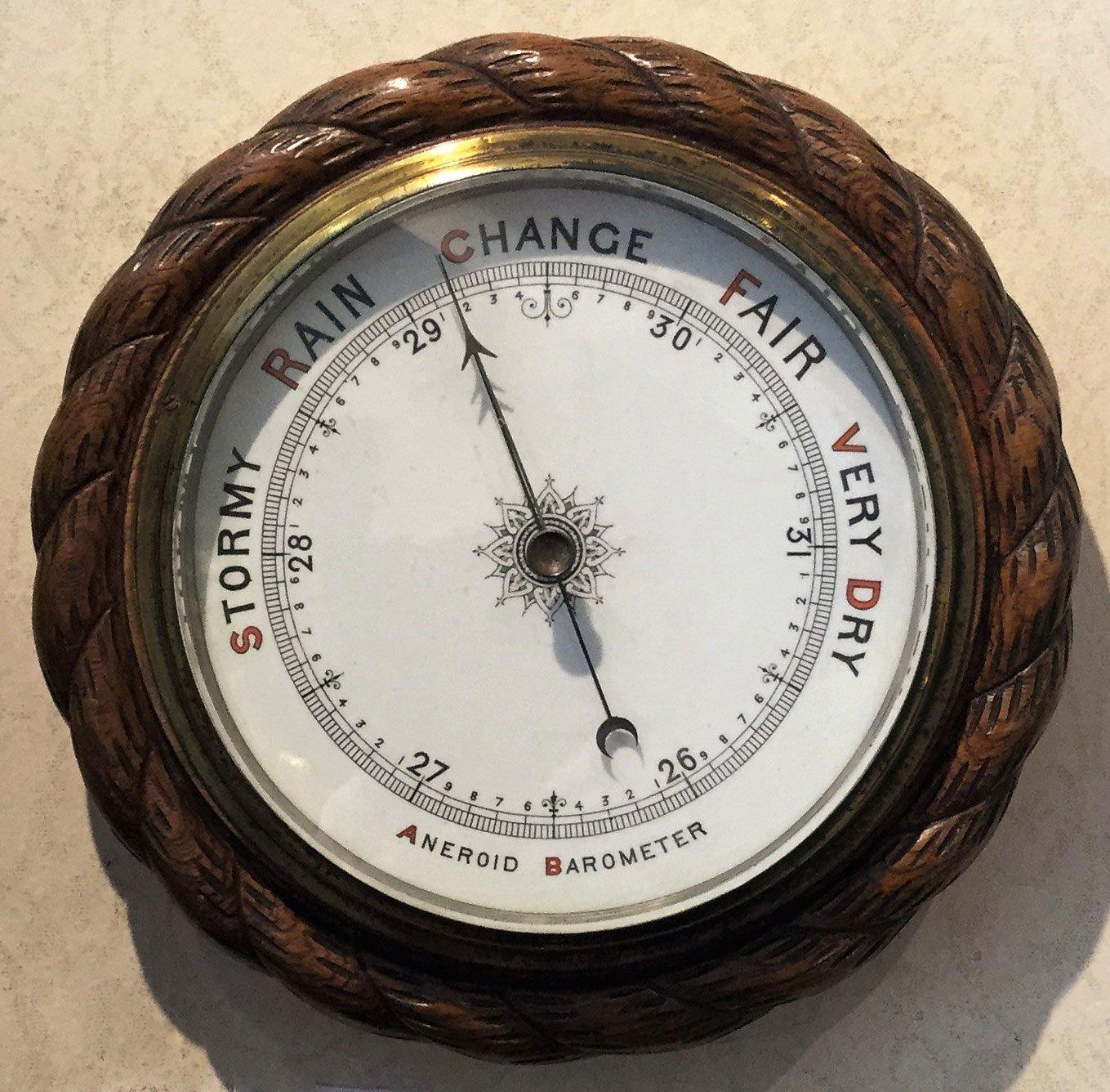 Aneroid wheel barometer