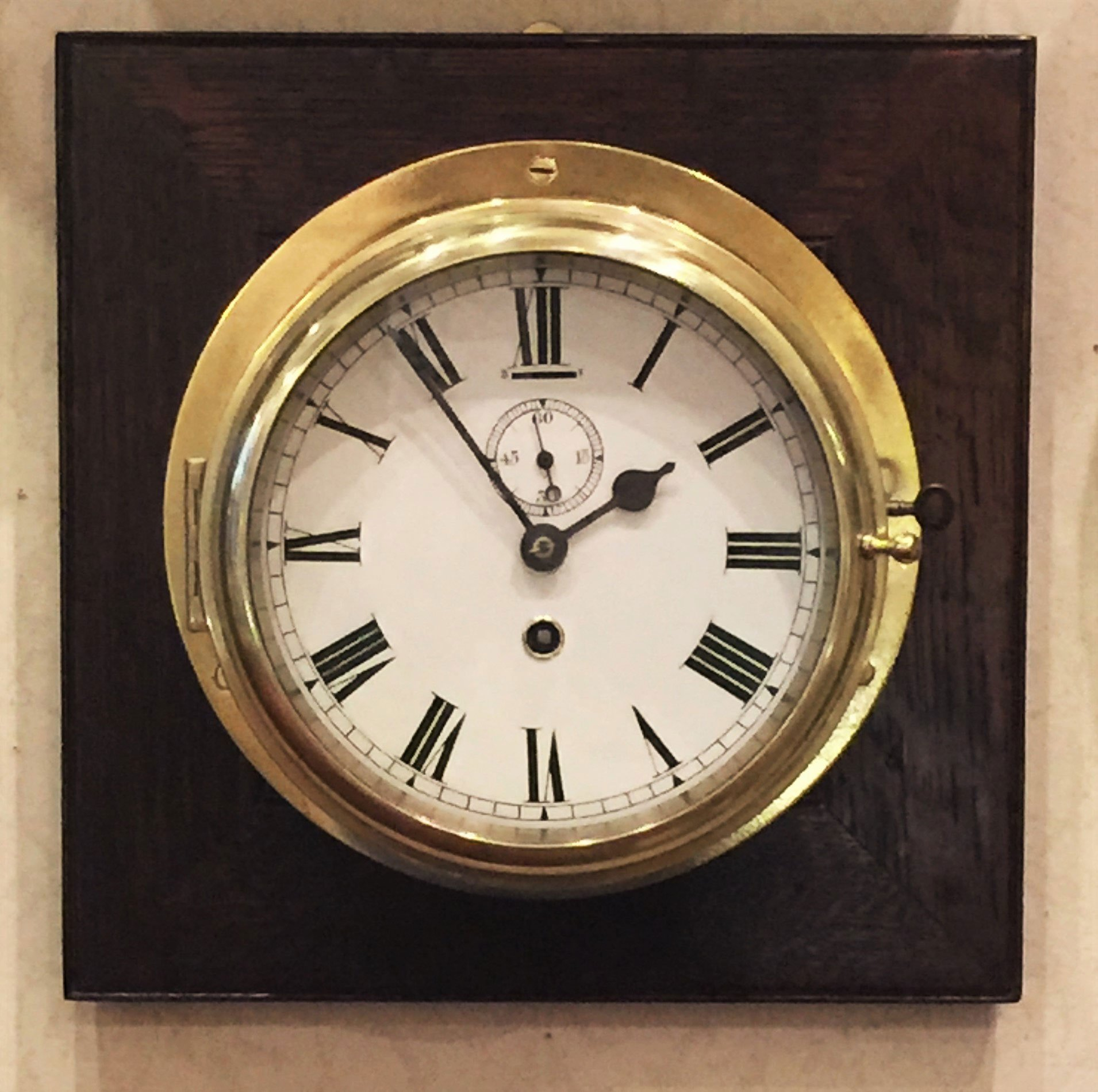 English fusee ships wall timepiece
