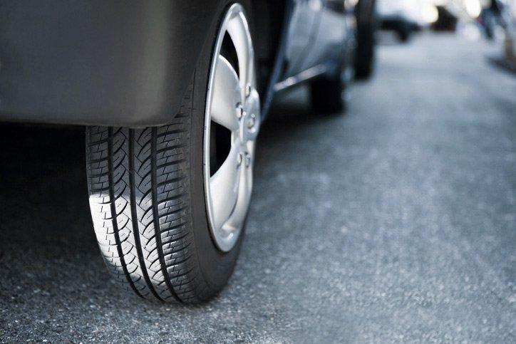 premier automotive close view of car tyre