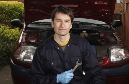 premier automotive mechanic having wrench
