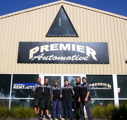 premier automotive business office with staff