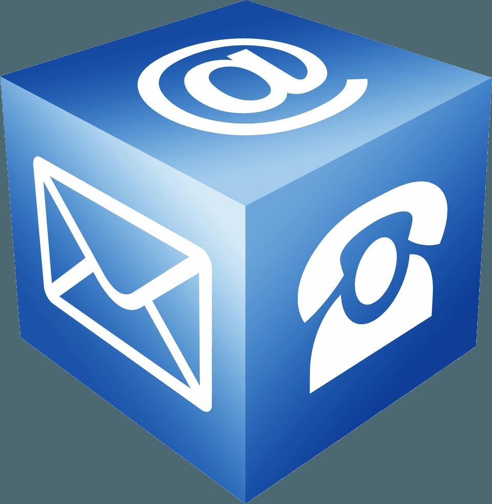 Icona cubo contatti
