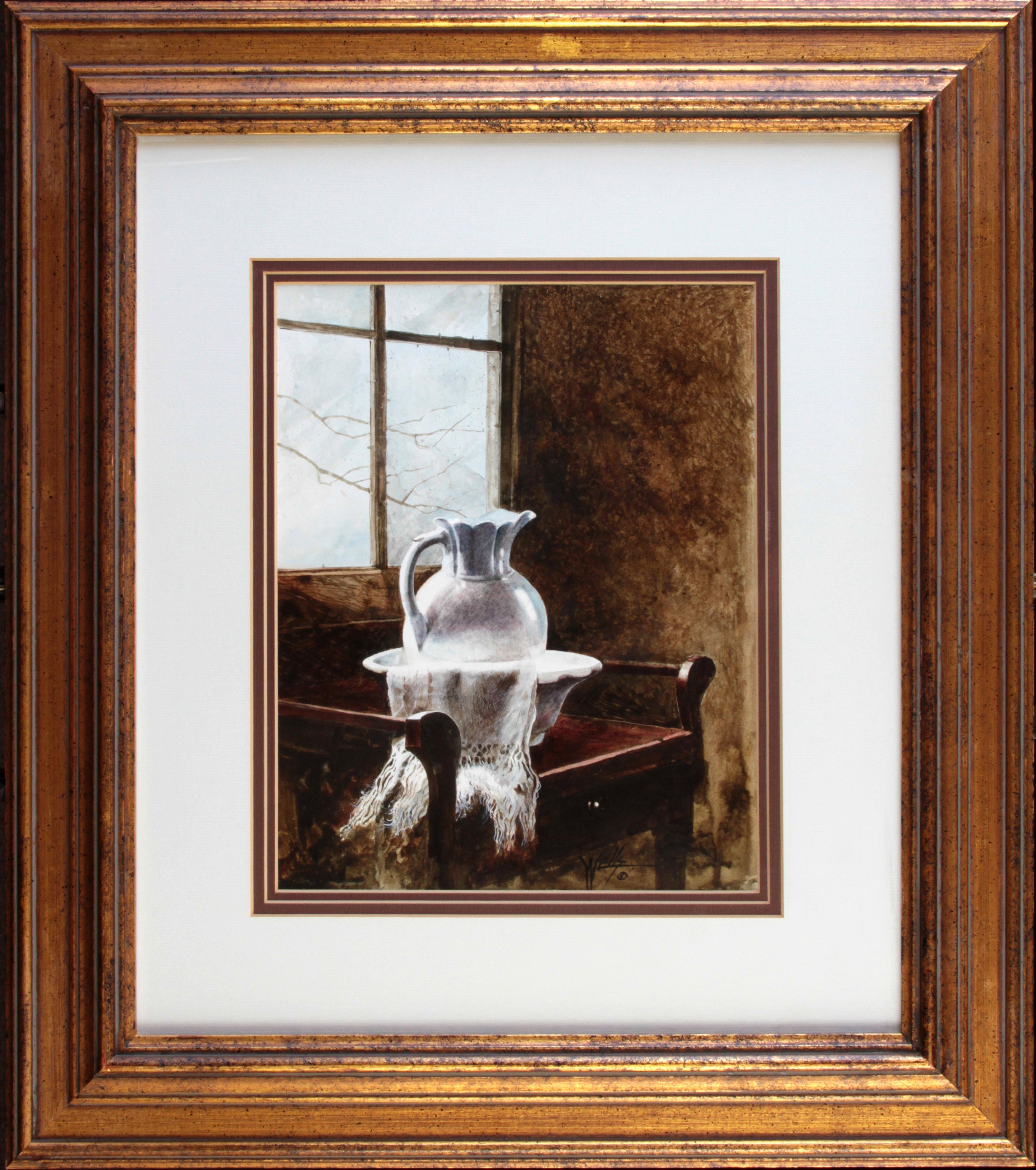 """""""White Porceline"""" Framed 20x22 Unframed 9x11"""