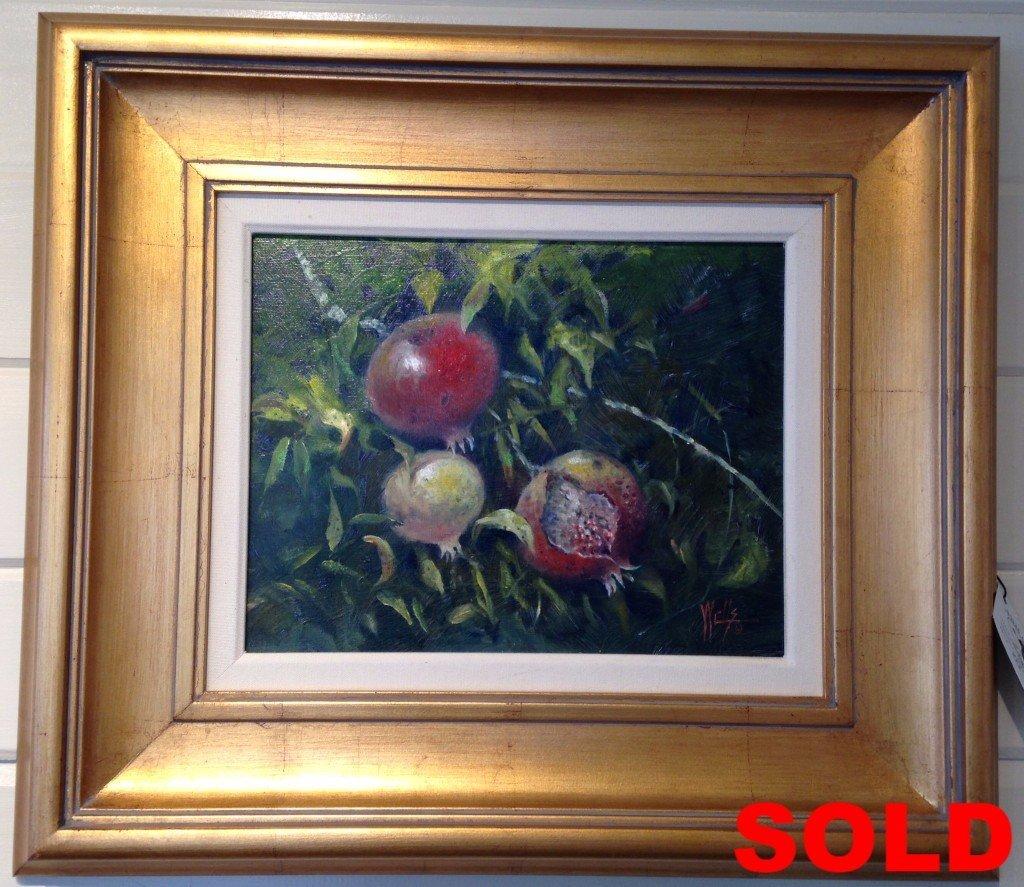 """Autumn Fruit"" Unframed 11 x 14  Framed  22 x 24"