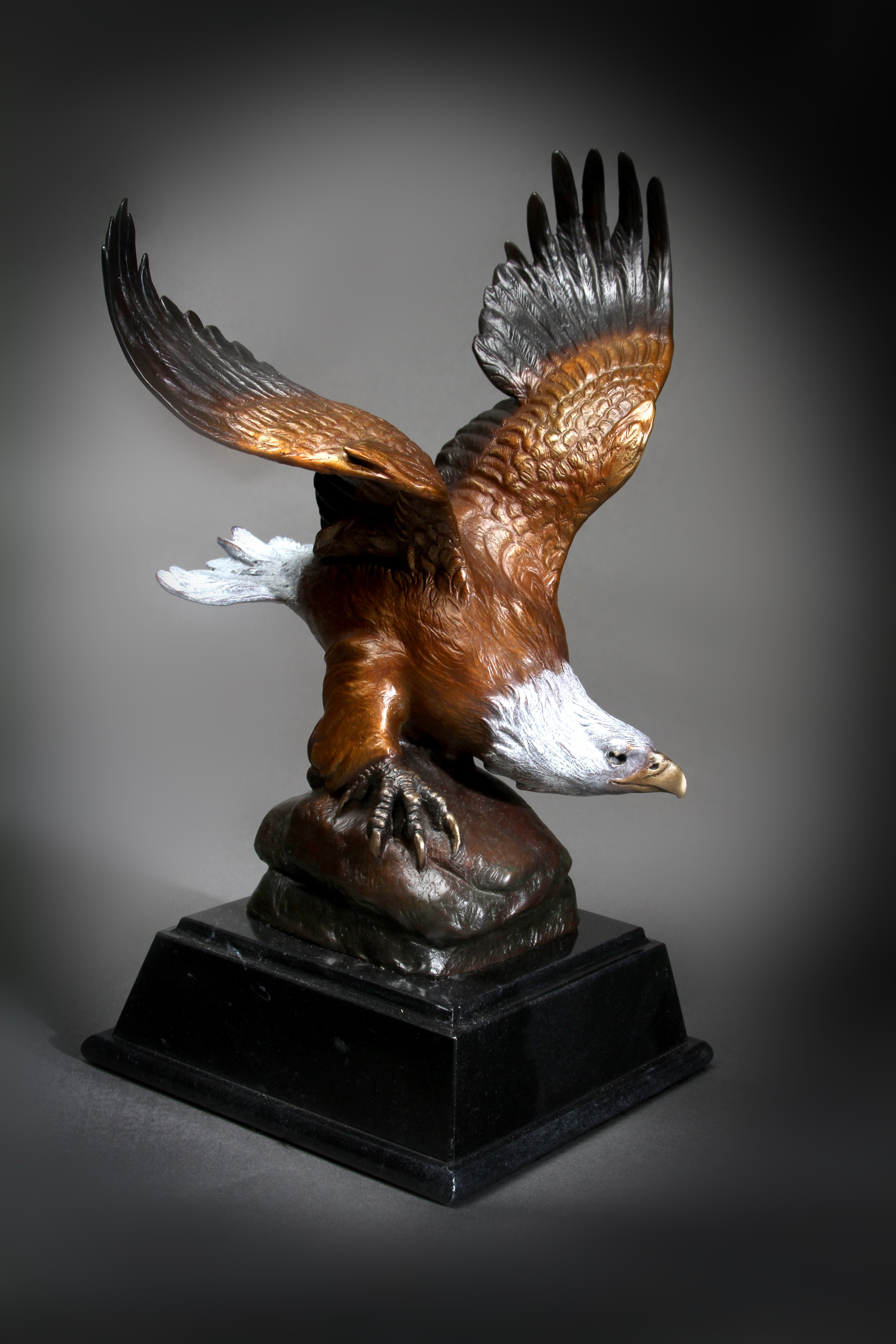 """Bald Eagle"" Height: 13 Base: 6 x 6"""