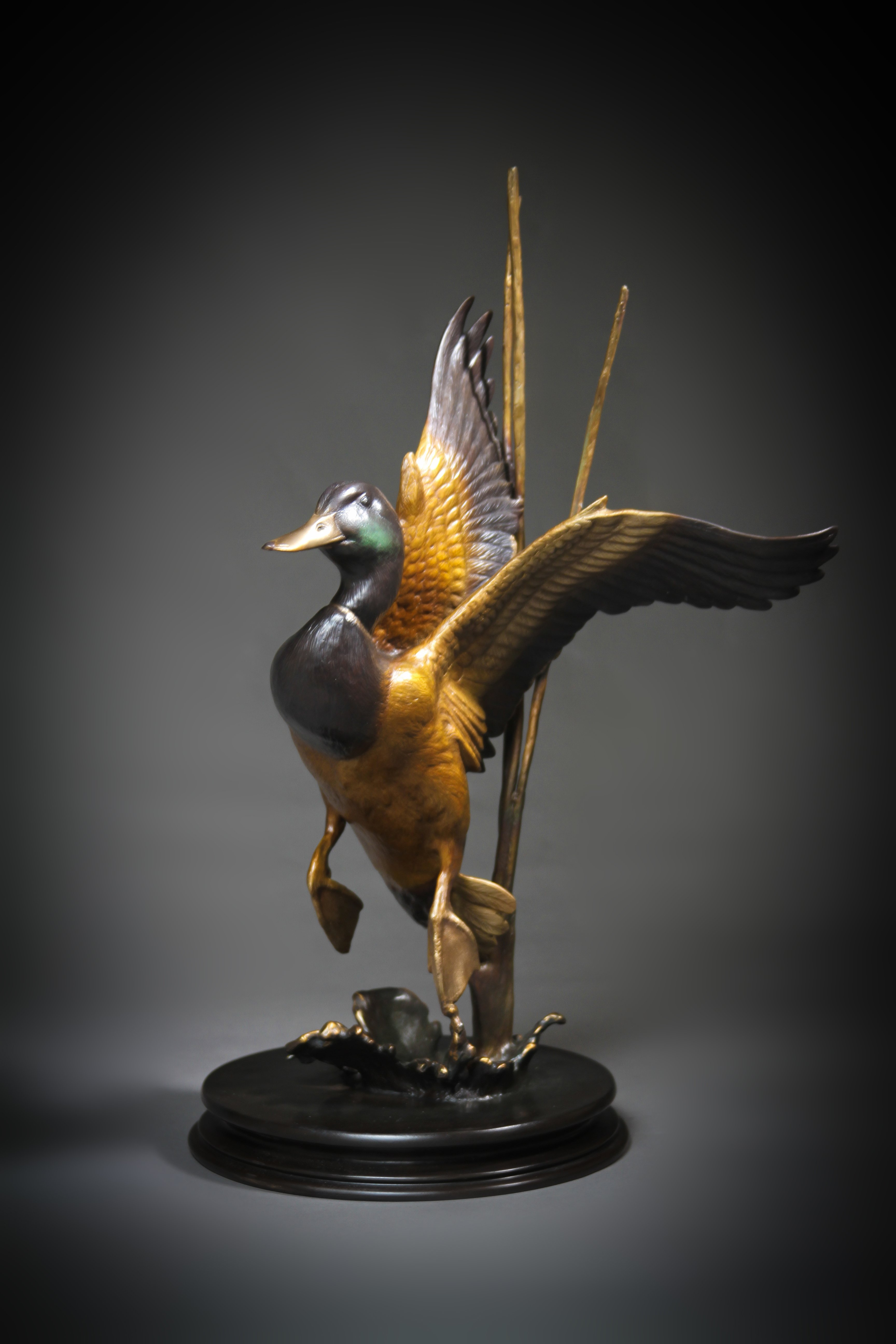 """Mallard Rise"" Height: 19"" Base: 9"""