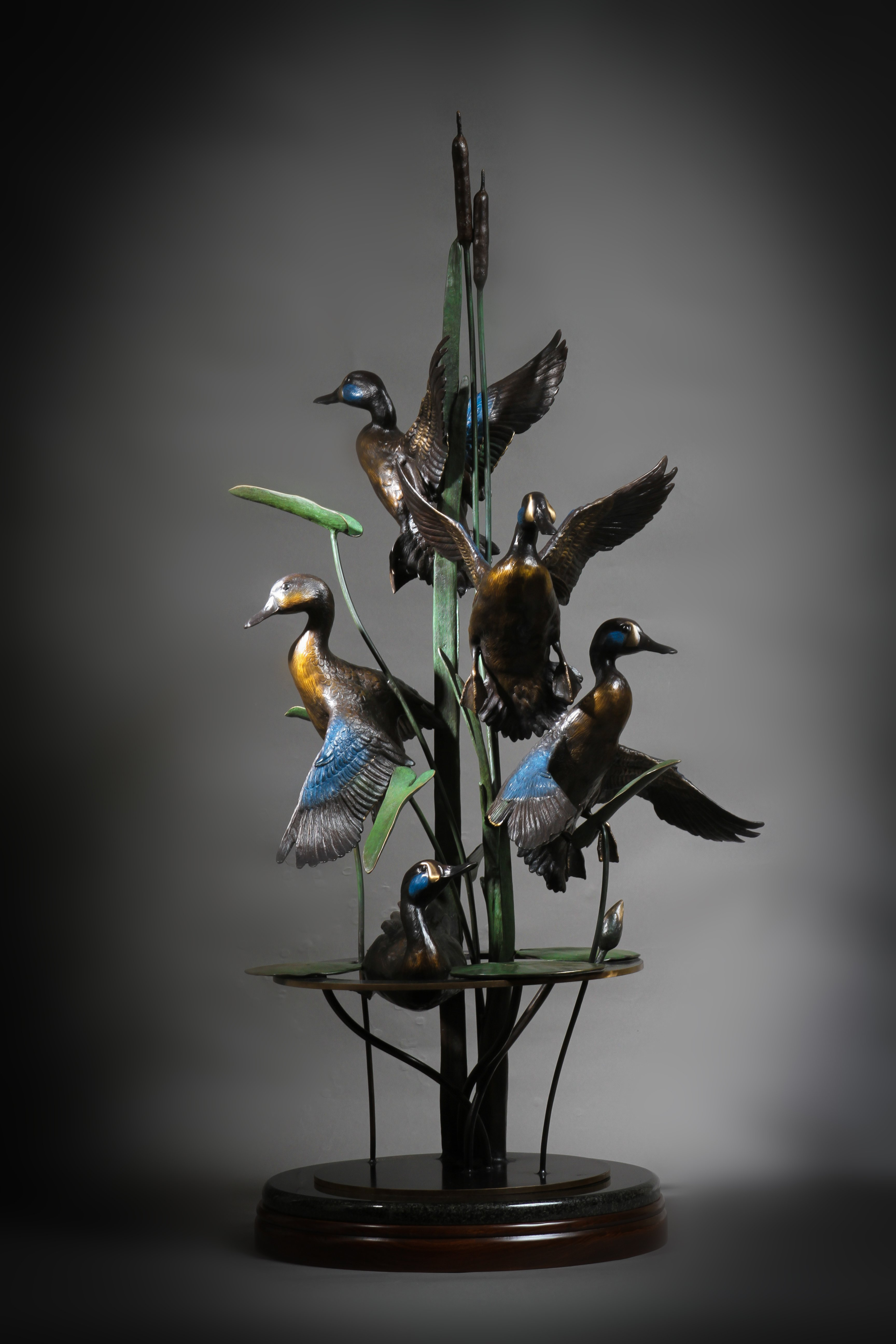 """September Blue Wings"" Wall Sculpture Available Height: 46""  Base:17"""