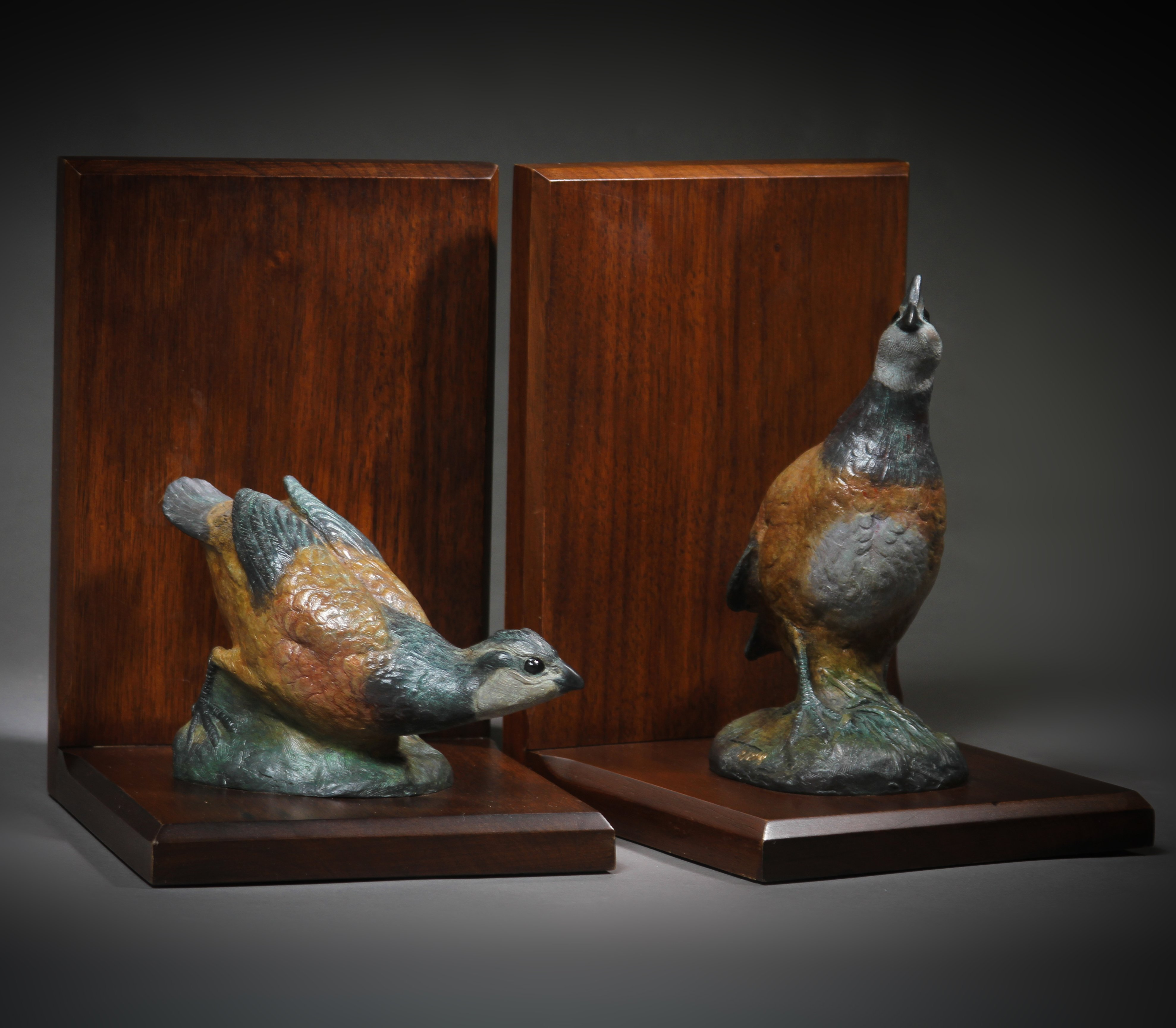 Quail Book Ends Base: 9 x 6""