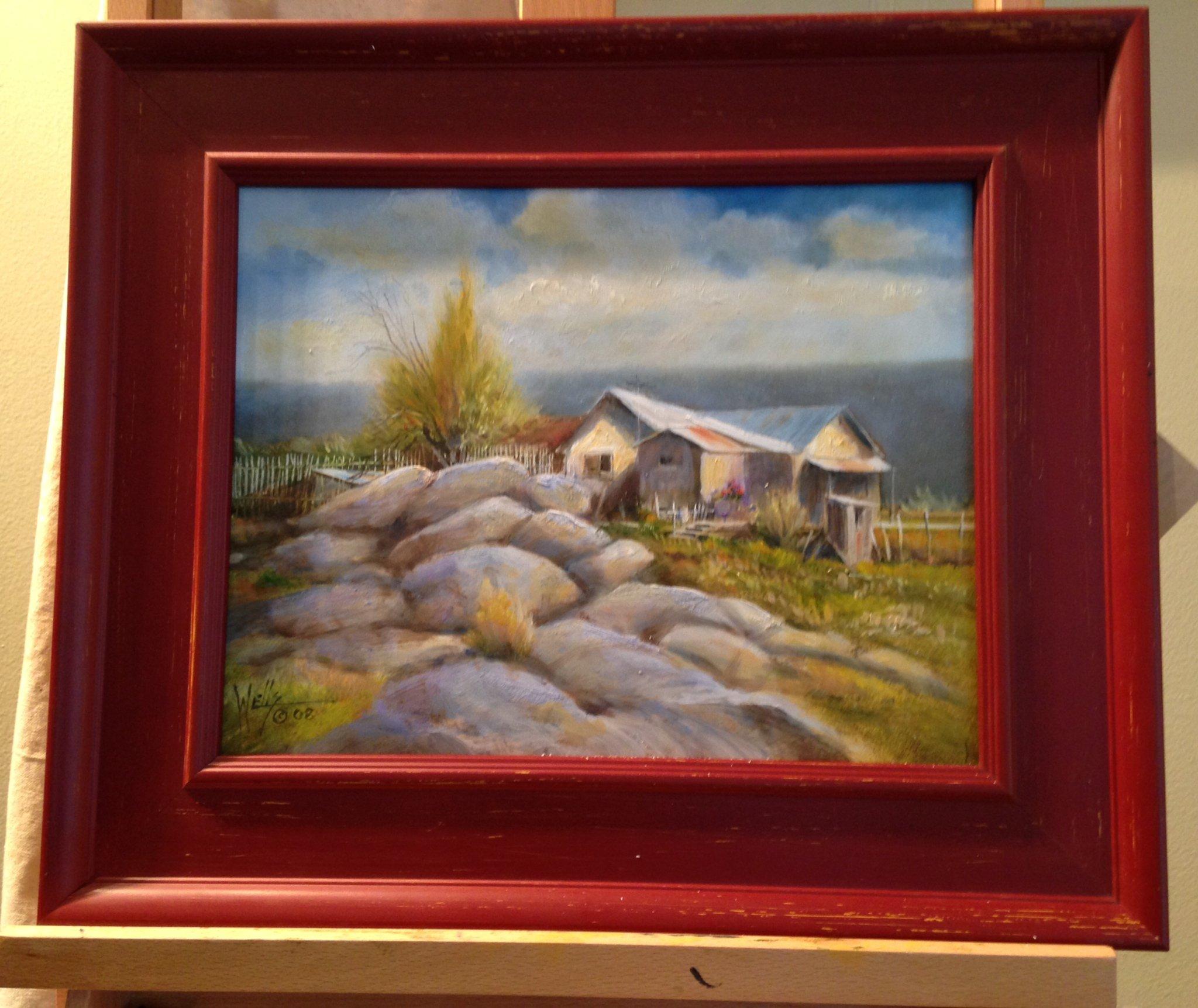 """On the Way to Santa Fe""  unframed 11 x 14  Framed 17 x 20"