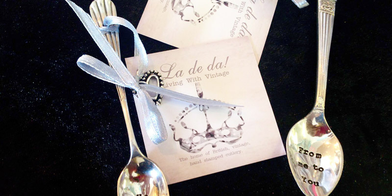 Beautiful engraved spoons as gifts