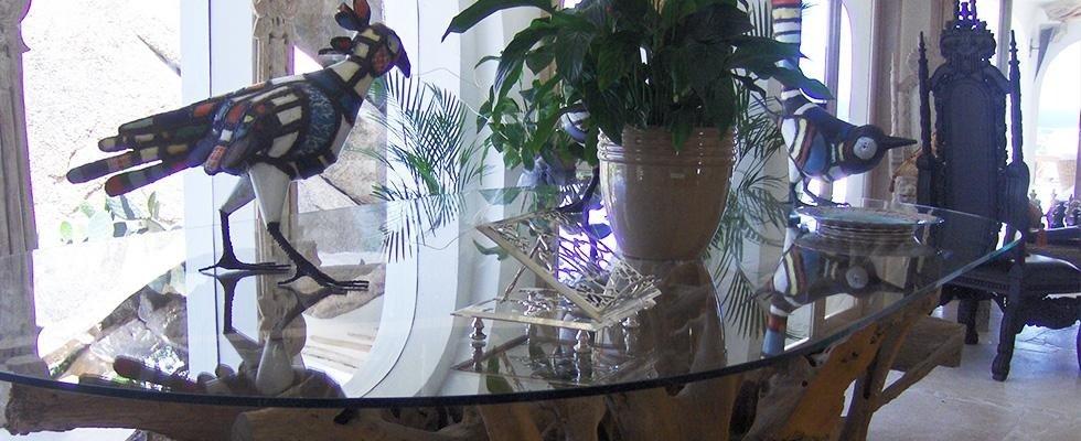 Arredamento interno tavolo vetro