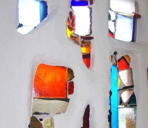 inserti in vetro colorato