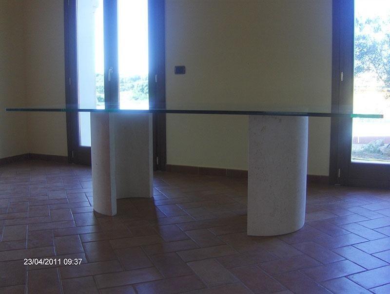 tavolo cristallo marmo