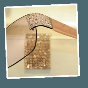 Vintage glasses - Oxford - P B Conway Opticians - swarovski love