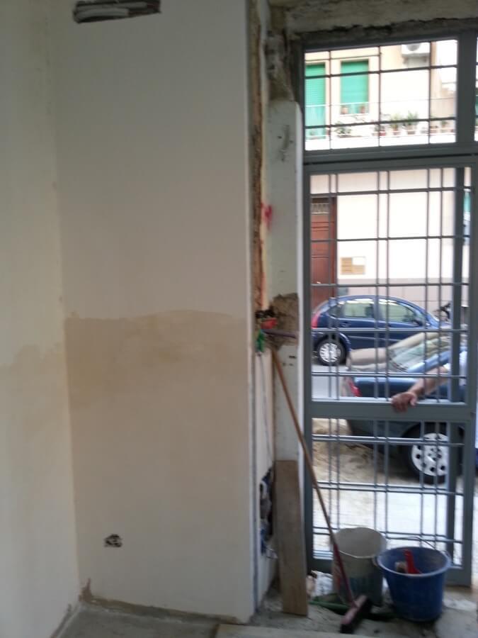 Rifacimento di un muro interno