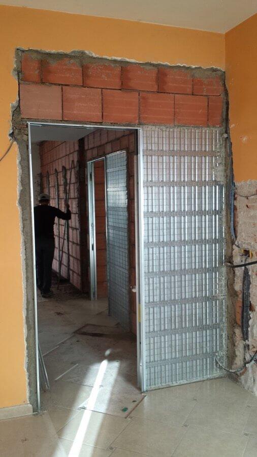 Rifacimento delle pareti di uno stabile