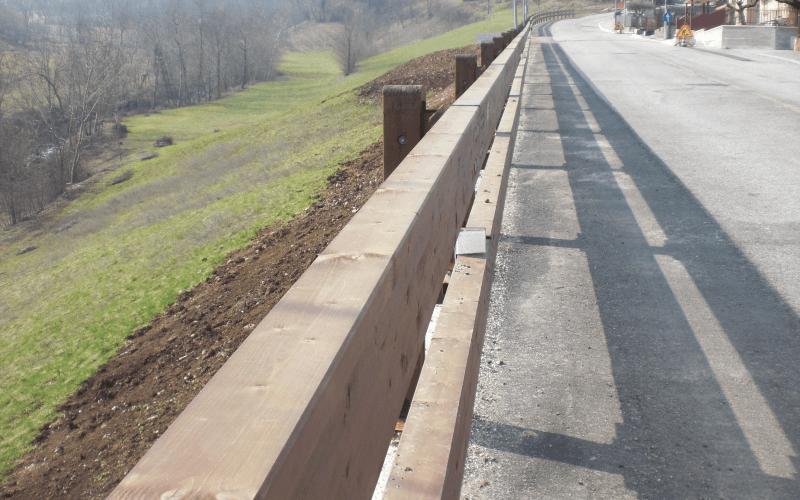 barriera legno sicurezza