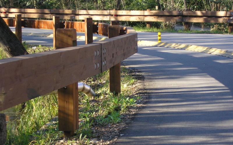 barriere stradali legno