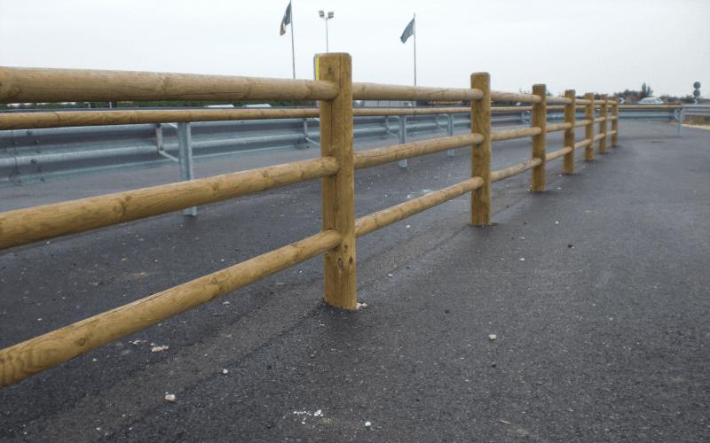 parapetto legno sicurezza