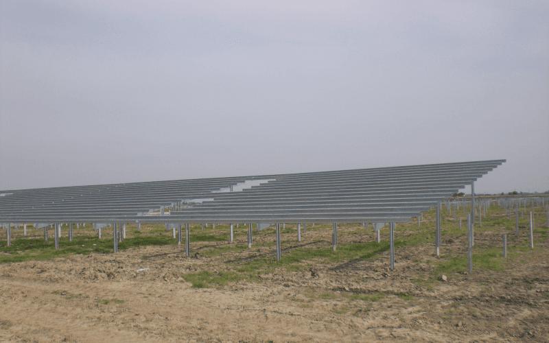 pali struttura fotovoltaico