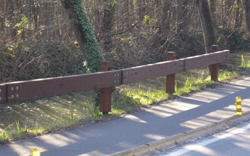 barriera strada legno