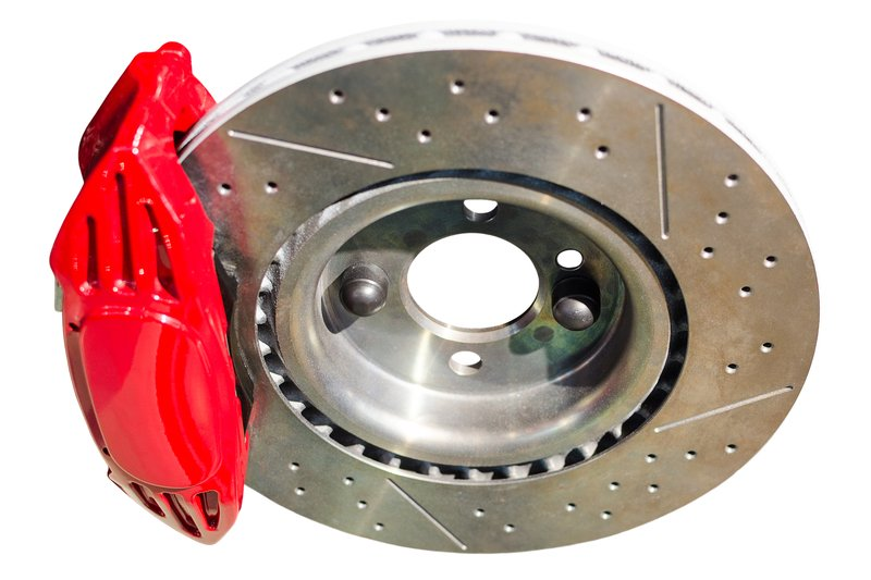 Isolated image of disc brake