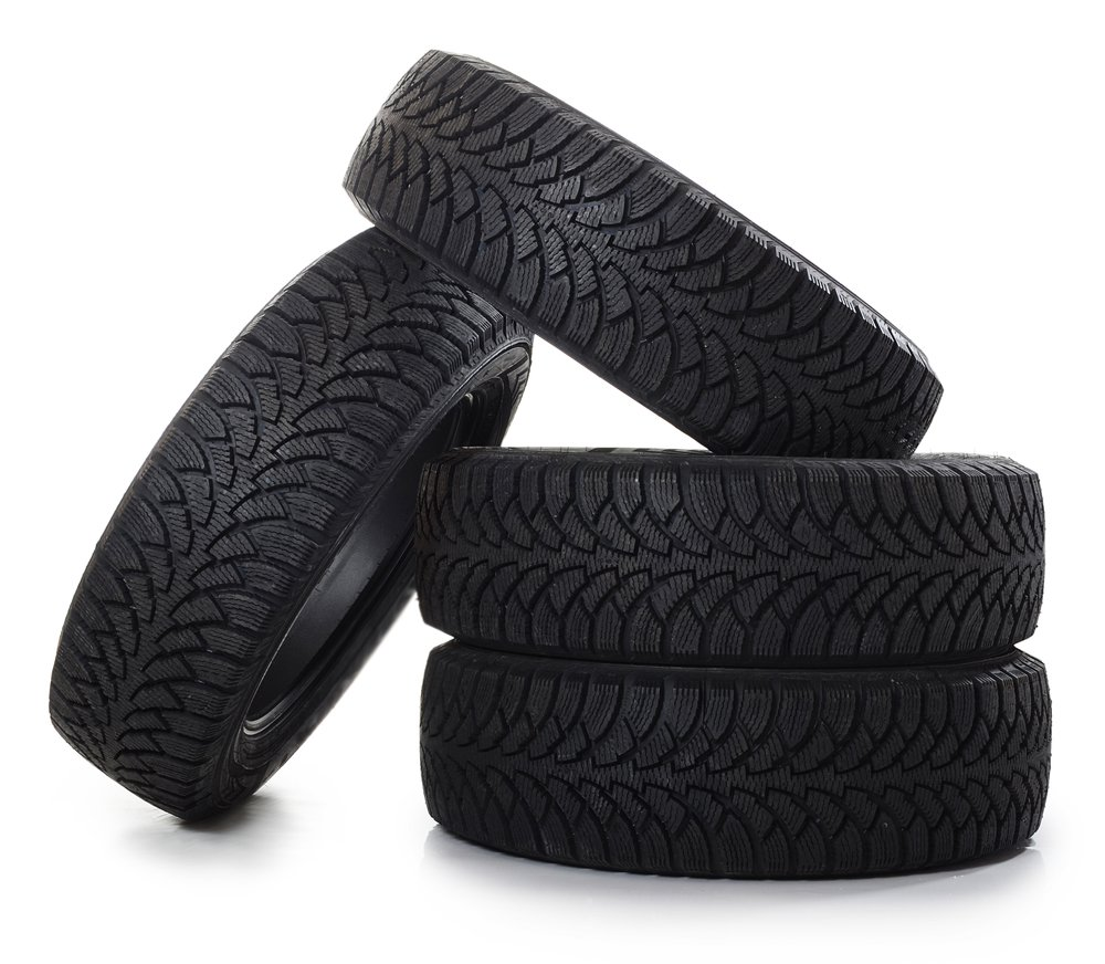 Isolated image of tires