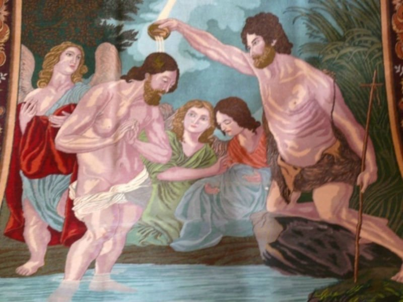 Tappeto con design del Sacro Battesimo