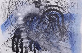 Sumi Y. - Hanging scroll 1 - t.m. su carta su tessuto - cm 124-63 - 1981