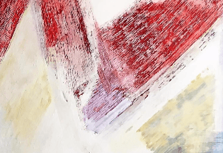 Guerzoni F. - Motivi Vaganti - t.m. su tavola - cm 120-200 - 2003