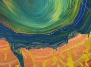 Shimamoto S. - Whirlpool - lacche colorate su tela - cm 62-72 - 2006